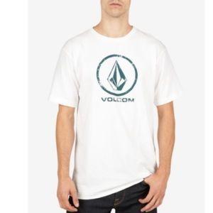 Volcom Men's Lino Stone Logo T-Shirt. B124